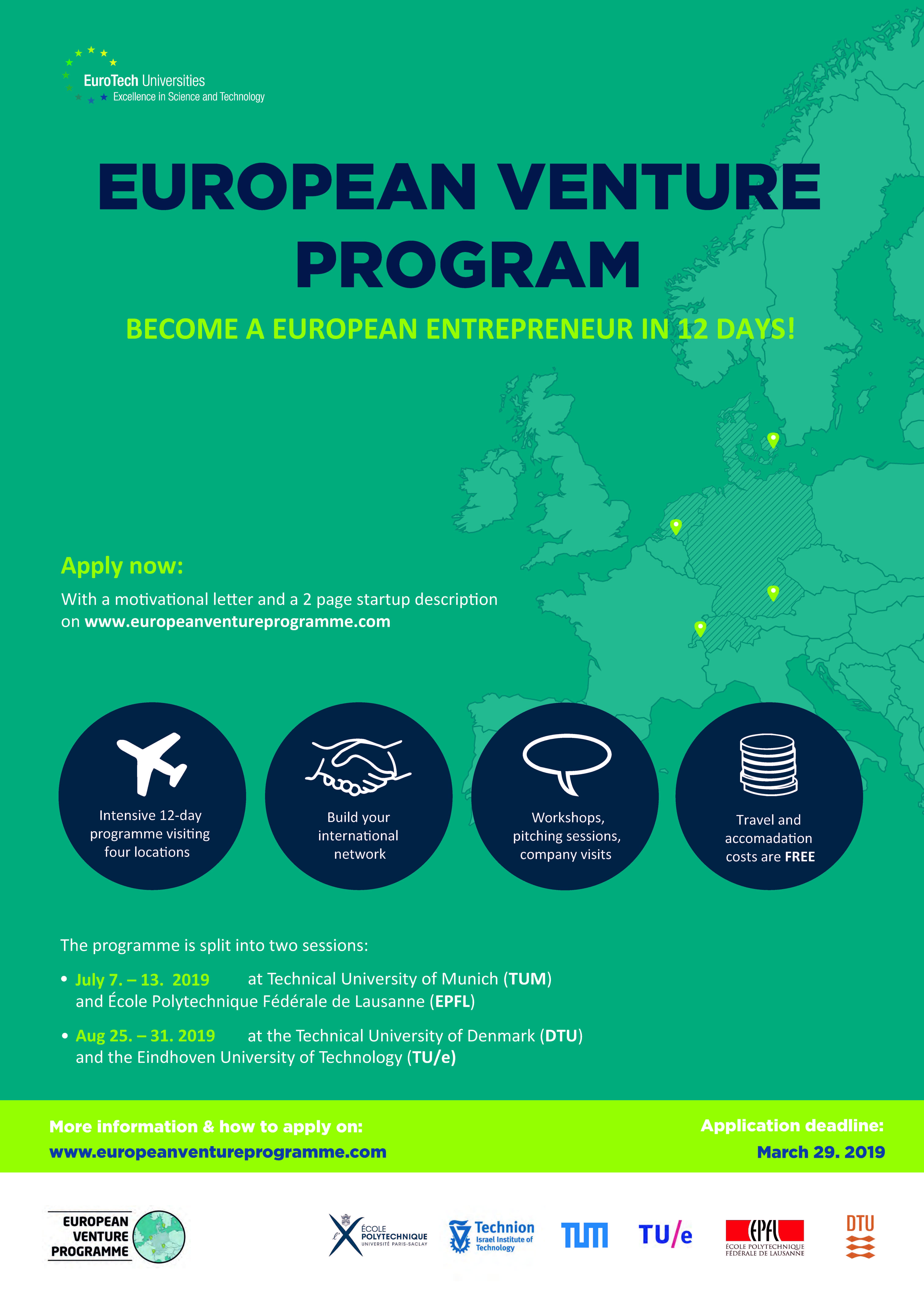 The European Venture Programme - Eurotech Universities