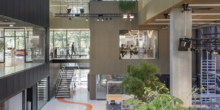 View on Technical University of Denmark's innovation centre Skylab, designed to support researcher and student entrepreneurs.