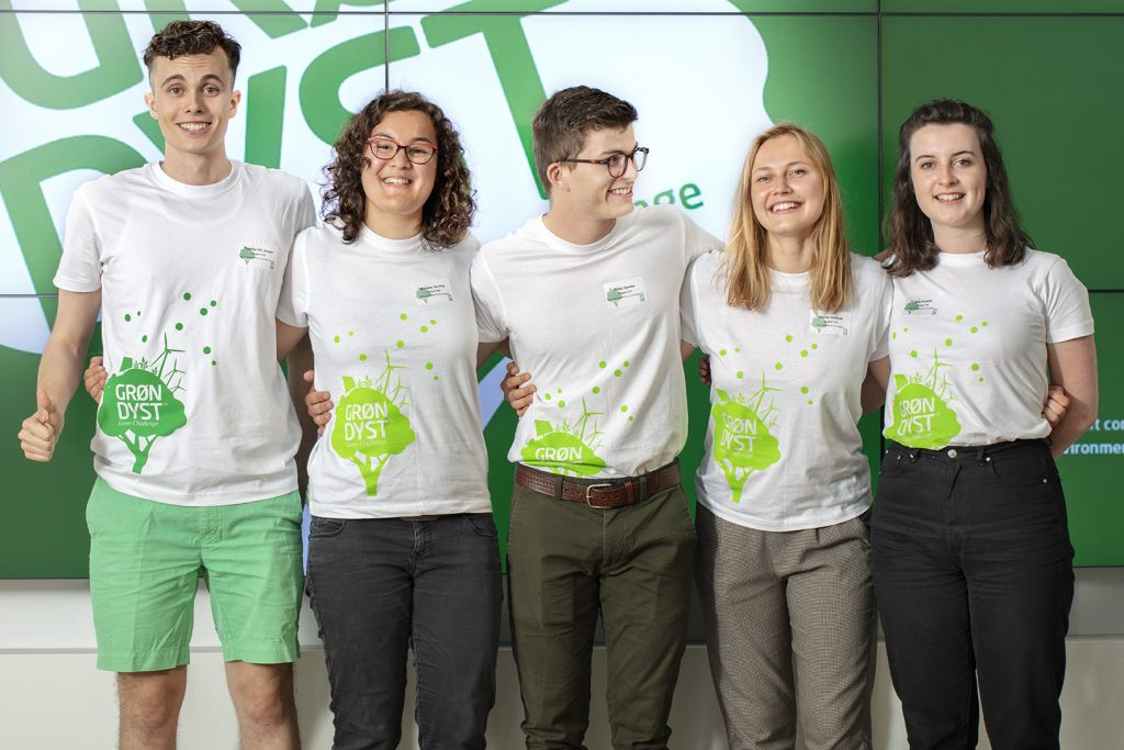 Group of students at a previous Green Challenge organised by DTU