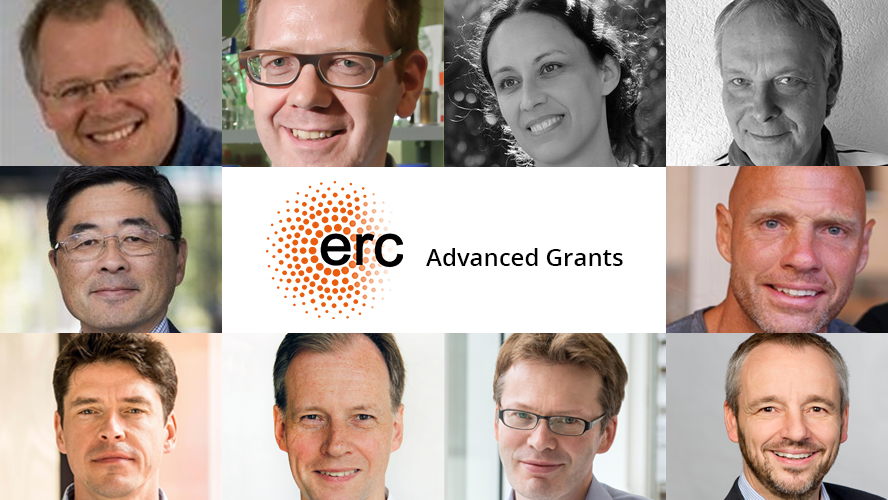 Images of the 10 EuroTech researchers who won an ERC Advanced Grant